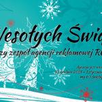 Wesołych Świąt życzy zespół agencji reklamowej ROD